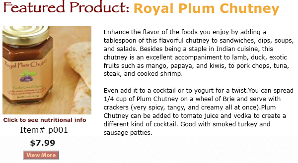 Royal Plum Chutney - Featured Product