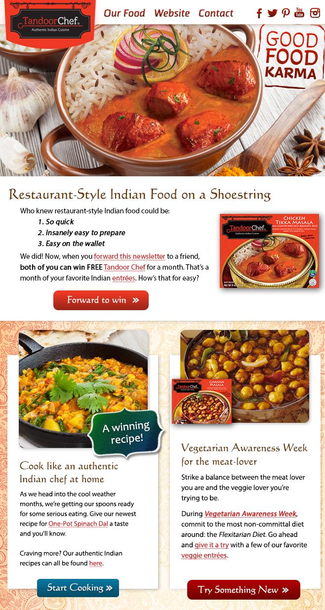 Tandoor Chef Tandoori Tales Enewsletter